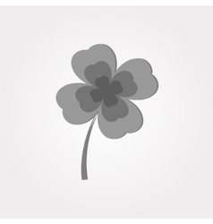 Gray clover on a white background vector