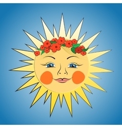 Fabulous sun girl vector