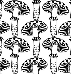 Zentangle amanita mushrooms vector