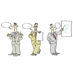 Men speaking vector image