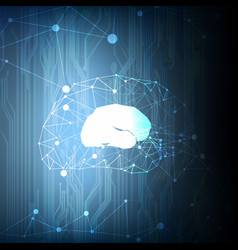 abstract technological geometric brain background vector image