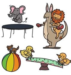 animal playground vector image