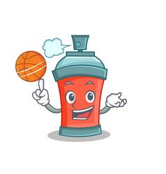 Basketball aerosol spray can character cartoon vector