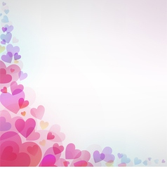Beautiful background with hearts vector image vector image