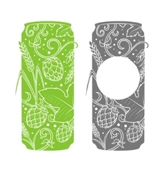Beer can abstract ornament vector