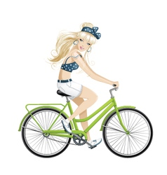 Bike girl vector image