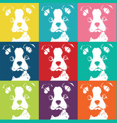 boston terrior color pattern vector image