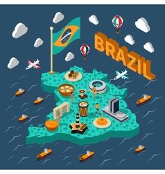 Brazil Isometric Map vector image