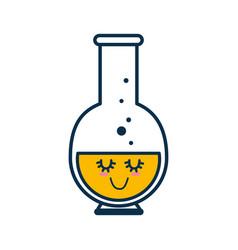 Chemistry flask cartoon vector