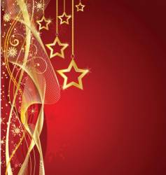 Christmas star background vector image vector image