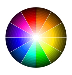 color wheel with shade of colors vector image