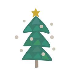 cute christmas tree icon design vector image