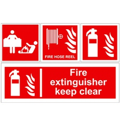 Fire extinguisher signs vector image vector image