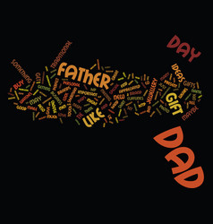 Gift ideas for father s day june text background vector