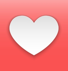 Heart paper concept vector image vector image