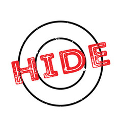 hide rubber stamp vector image