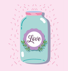 jar mason style with rustic preserve vector image