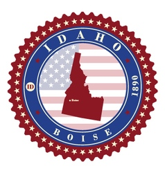 Label sticker cards of state idaho usa vector