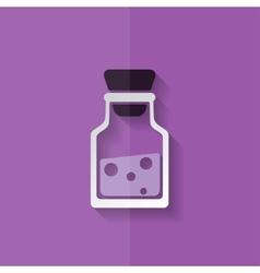 Laboratory medical flask flat design vector