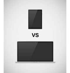 Laptop vs tablet vector image vector image