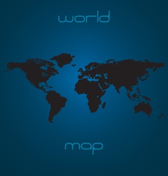 Map of the world - black silhouette vector image