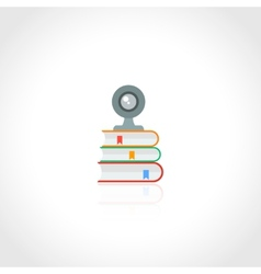 Online education icon vector