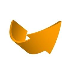 orange arrow vector image vector image