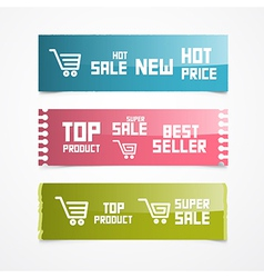 Paper Labels Tags Stickers vector image vector image