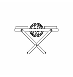 Power-saw bench icon outline style vector image vector image