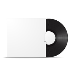 Realistic vinyl record in sleeve vector image