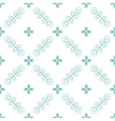 Seamless floral pattern geometric flowers vector image vector image