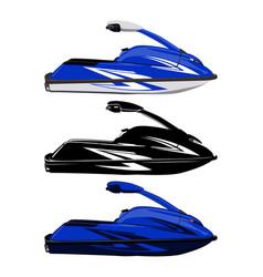 Set jet ski scooter vector