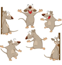 Set of Cartoon Cute Rats vector image vector image