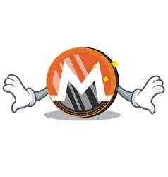 Shock monero coin character cartoon vector