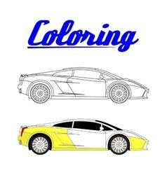 sport car - Coloring book vector image