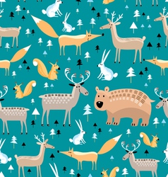 Texture of wild animals vector