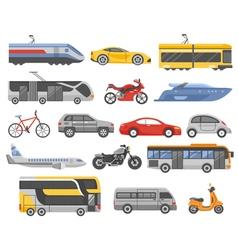 Transport Decorative Flat Icons Set vector image vector image