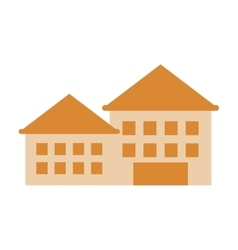 Retro building icon vector