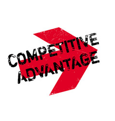 Competitive advantage rubber stamp vector