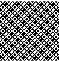 Geometric black and white seamless pattern vector