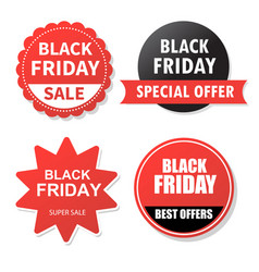Sale banner design collection of black friday vector