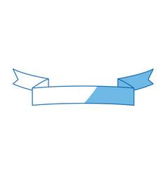 ribbon banner blank decoration icon vector image