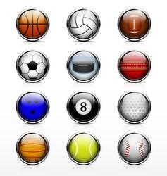 Sports ball icon vector image