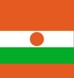 Niger national flat style flag vector