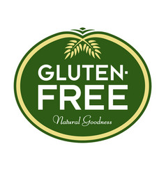 Gluten-free natural goodness logo vector