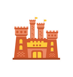 Fortress or stronghold with fortified wall and vector