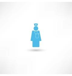Doctor blue icon vector