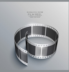 3d film strip design for camera vector