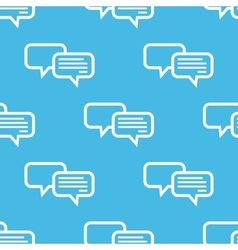 Blue chatting pattern vector