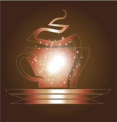 Coffee cup and coffee elements vector